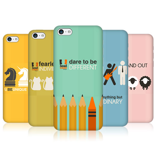 Head Case Designs Be Different Protective Back Case Cover for Apple iPhone 5c
